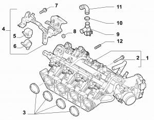 INTAKE MANIFOLD AND BUTTERFLY CLIPS